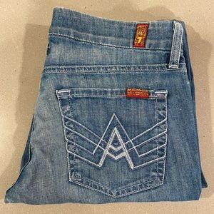 Distressed 7 for All Mankind A Pocket jeans